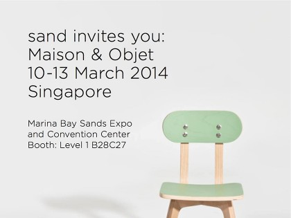 invitation to maison & objet singapore / 10-13 mar 2014