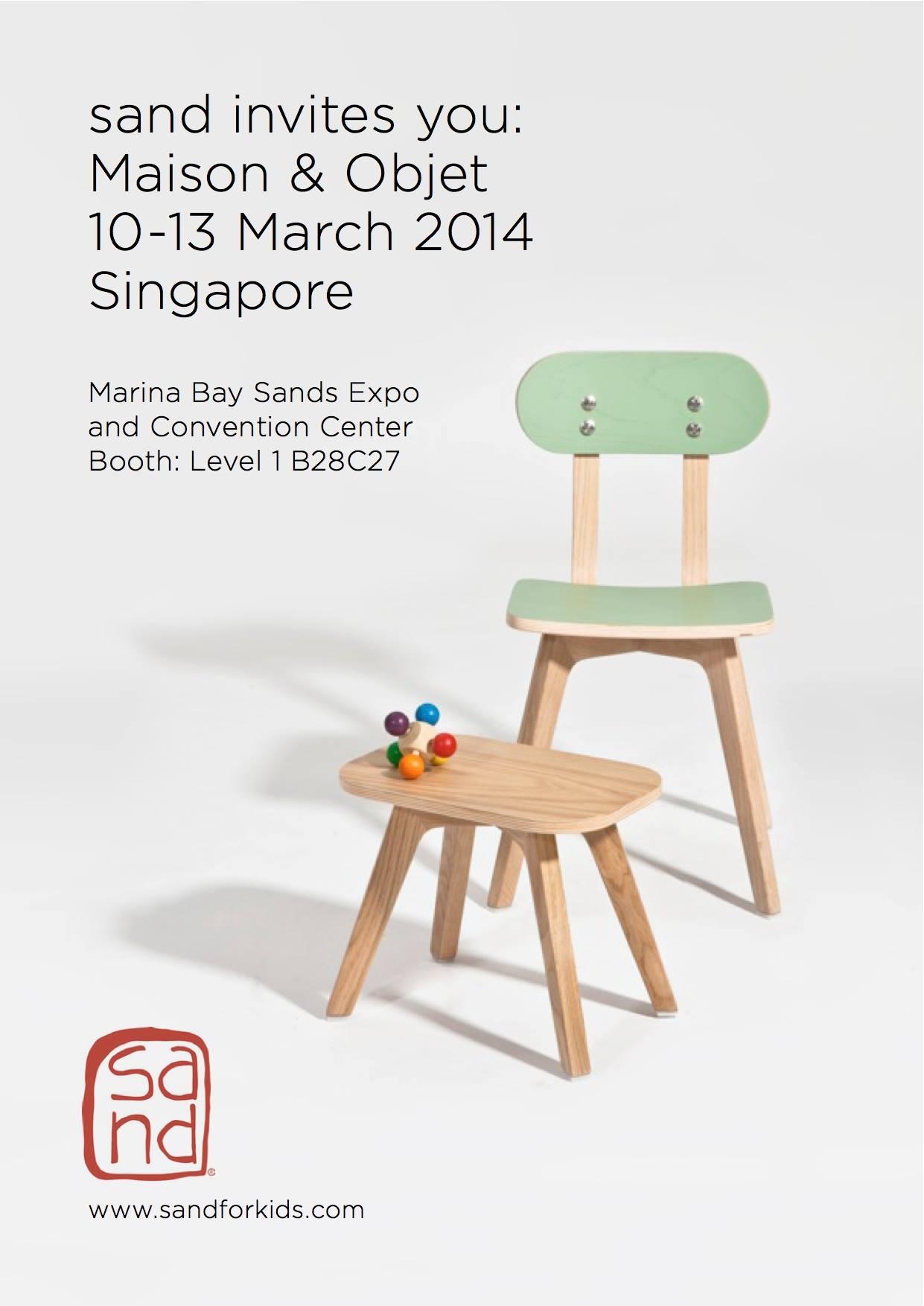 Invitation to maison objet singapore 10 13 mar 2014 sand - Salon objet et maison ...